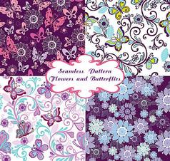 蝴蝶花朵装饰边框素材