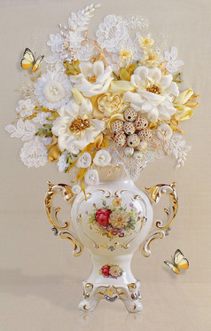 立体花瓶背景墙