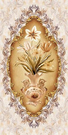 花瓶背景墙