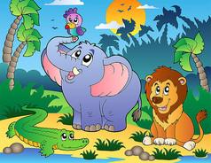 森林动物卡通亚美am8娱乐