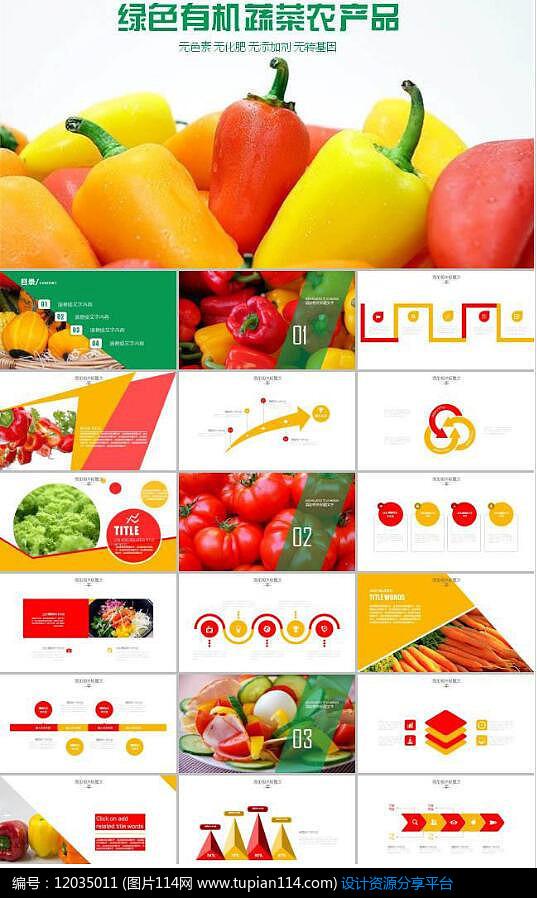 有機蔬菜農產品PPT