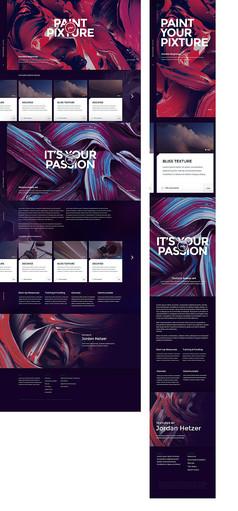 欧美艺术网站APP手机模板