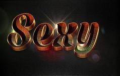 3D金属艺术字体样式