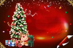 创意圣诞节海报背景设计