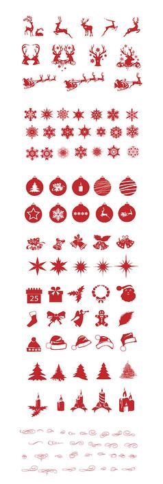 创意圣诞节海报元素