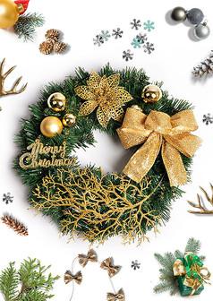 时尚圣诞节海报元素