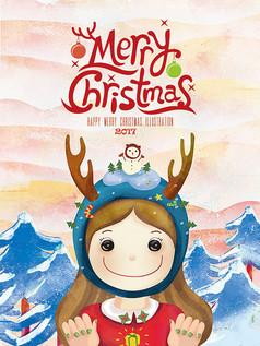 创意圣诞新年宣传海报