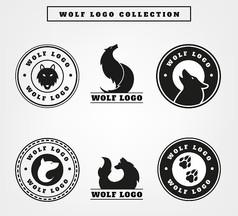 野生动物标志矢量图