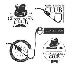 复古绅士俱乐部矢量标志