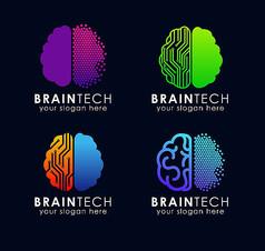 大脑标志设计