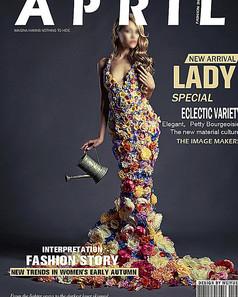 时尚杂志封面排版