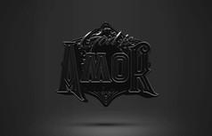 3D立体创意金属字体