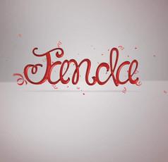 3D艺术英文字体