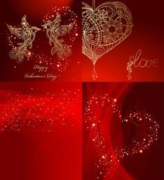 情人节红色背景
