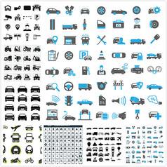 交通工具图标设计