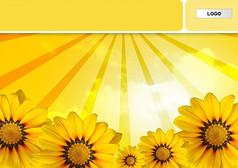 黄色葵花PPT模板