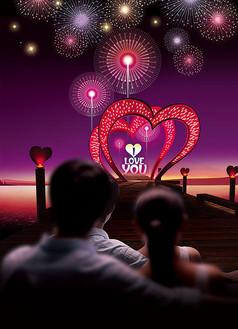 浪漫情人节背景
