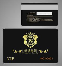 KTV黑色VIP会员卡