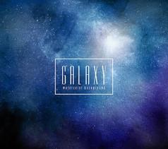 蓝色星系星空背景矢量素材