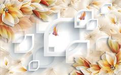 花卉花瓣电视背景墙