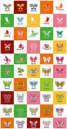 蝴蝶图案包装矢量