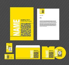 黄色简约VI模板