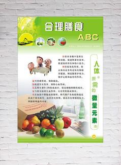 合理膳食宣传展板设计
