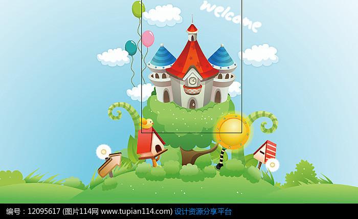 卡通城堡背景