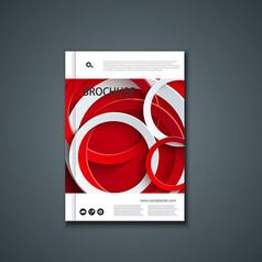 红白圆形画册封面