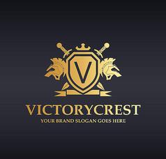 金色盾牌宝剑logo