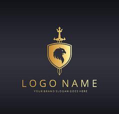 盾牌宝剑logo