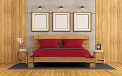 简约木板卧室效果图