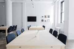 简约风格办公室会议桌整体装修实