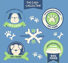 简约手绘宠物狗标志