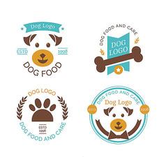 简约宠物狗商务标志