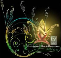 唯美植物花纹装饰PS笔刷