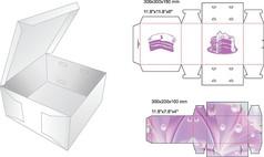简约蛋糕包装盒设计
