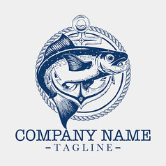 简约鱼商务公司标志