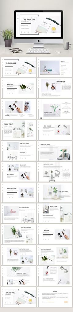 时尚简约品牌宣传画册PPT模板