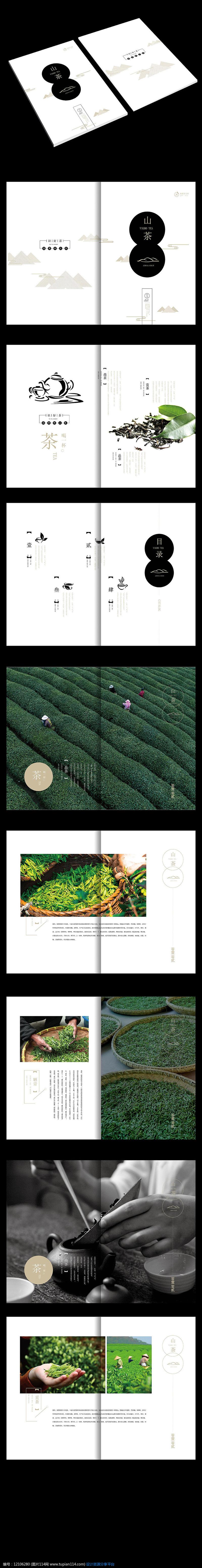 中国风创意茶叶画册