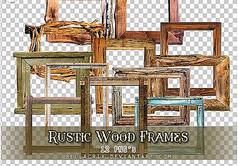 木头相框边框笔刷
