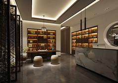 中式茶叶店3D模型素材