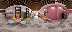 奶茶店3D模型设计素材