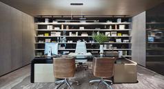 现代老总办公室3D模型素材