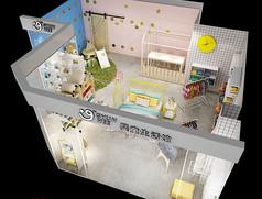 母婴店3D模型素材