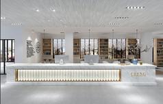 现代风格办公大厅3D模型素材