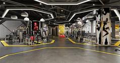 工业风健身房3D模型素材
