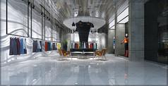 服装店店面设计3D模型素材