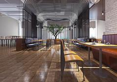现代餐厅装修设计3D模型