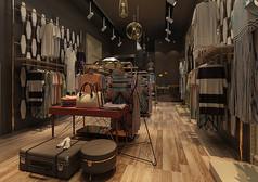 复古风格服装店3D模型素材